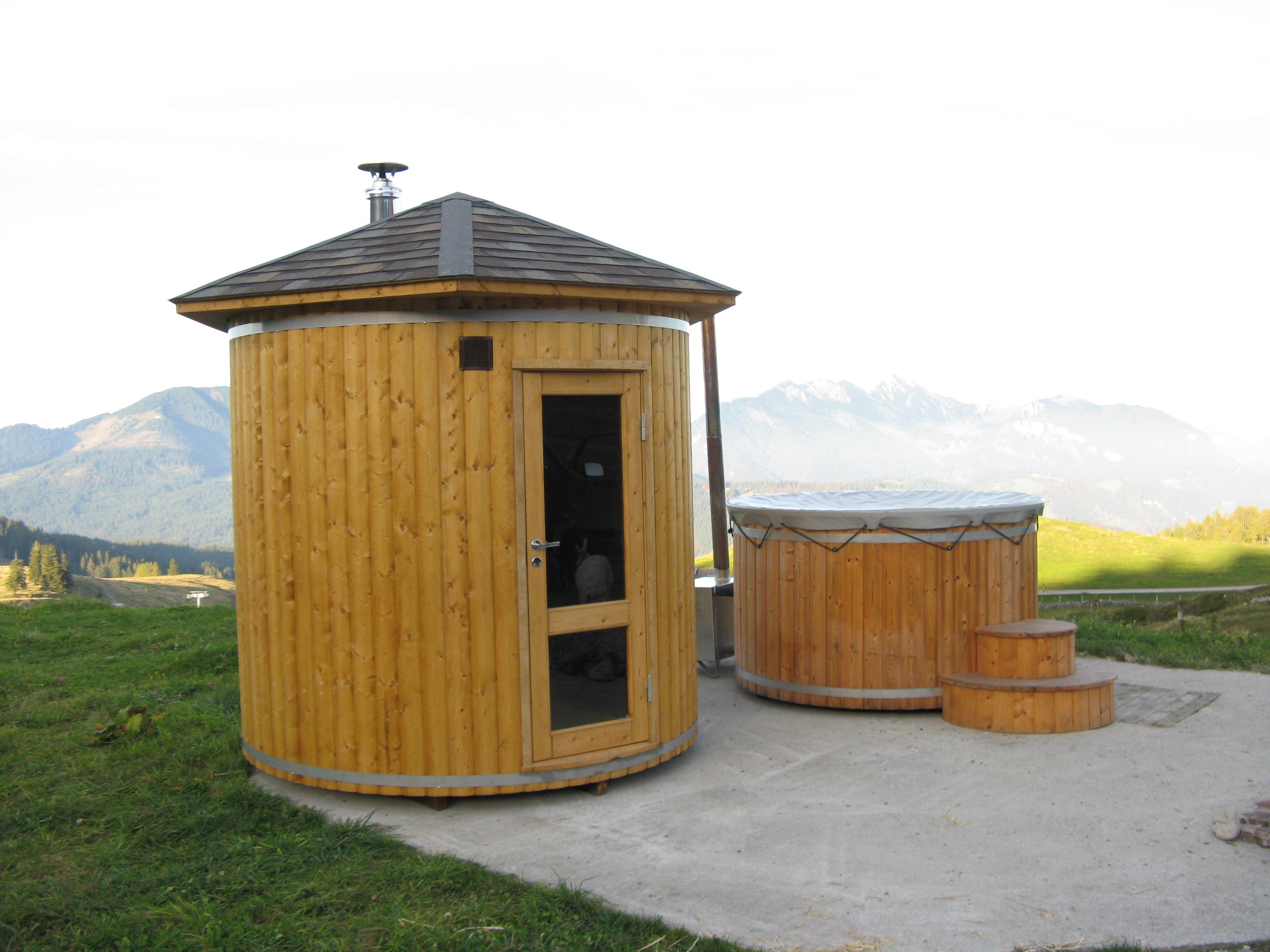 Häufig Saunafass 2,4m - eine hohe und räumliche Sauna (mit Holzofen UT13