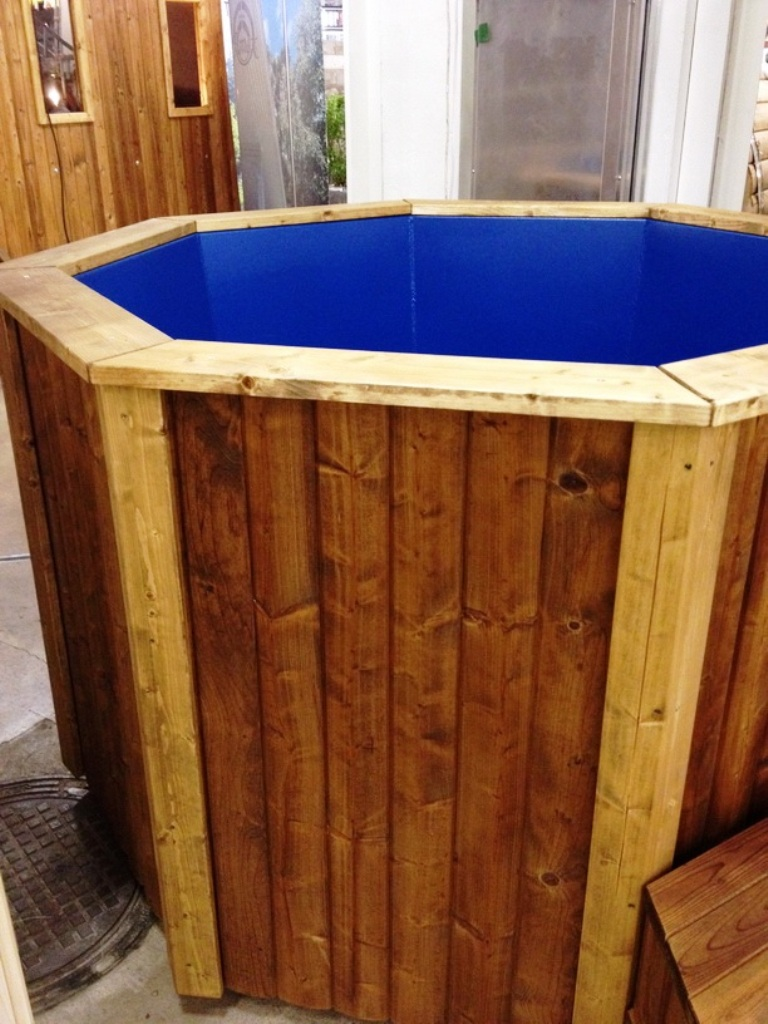 Wood Fired Bathtub 2 2 Meter Thermally Modified Wood External