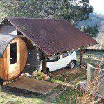 Small barrel sauna