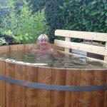 log hot tub