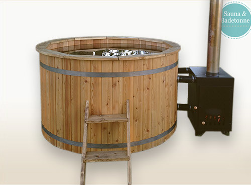 what is a wood burning hot tub