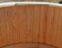 Badetonne 150cm aus Lärche mit Außenofen