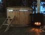 Badetonne 170cm aus Lärche mit Außenofen