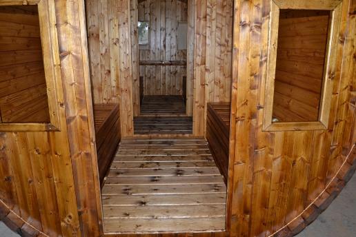 Sauna T58 aus Thermoholz