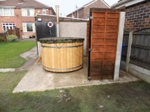1,7m hot tub external stove