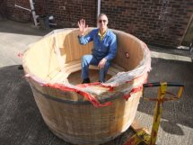 wood fired hot tub 1,7m