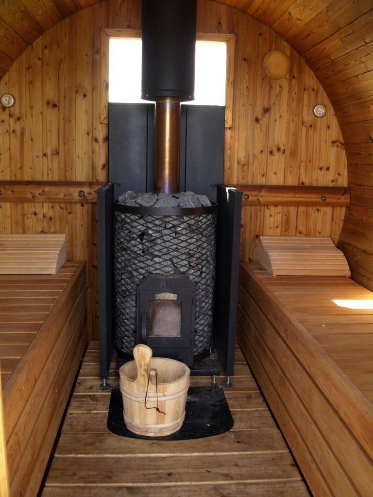 Scandinavian barrel sauna
