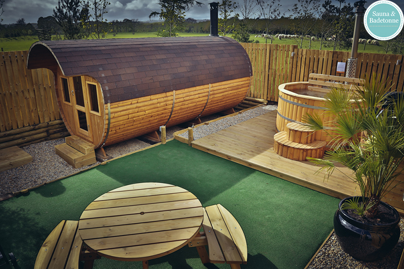 2 Wooden Hot Tubs And Barrel Saunas