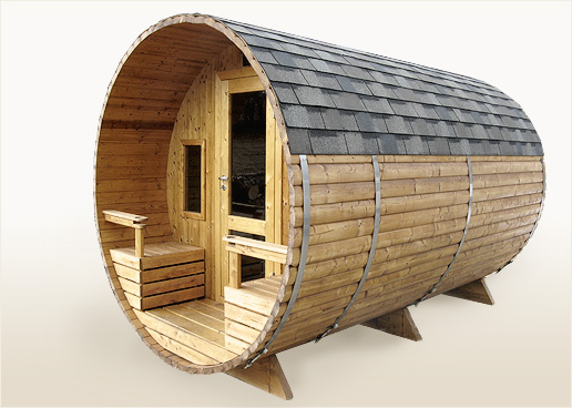 barrel sauna terrace two rooms electric heater for. Black Bedroom Furniture Sets. Home Design Ideas