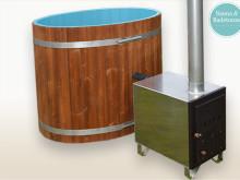 Ovaler Badebottich 120cm mit Kunststoff innenbeschichtung